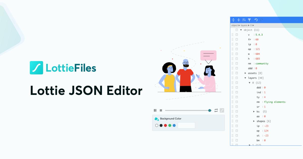 Lottie JSON Editor