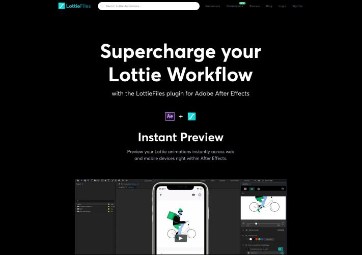 Screenshot of LottieFiles After Effects Plugin
